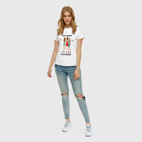 Женская футболка с принтом Три подруги, вид сбоку #3