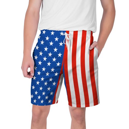 Мужские шорты 3D Американский Флаг