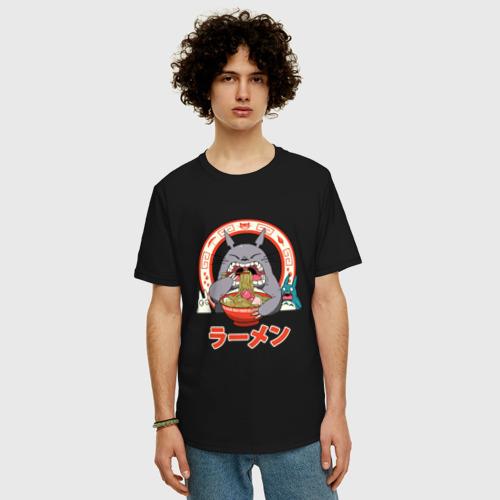 Футболка oversize с принтом Totoro, фото на моделе #1