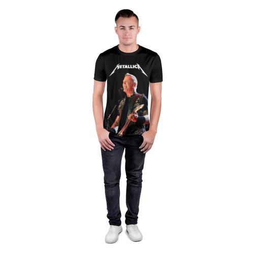 Мужская футболка 3D спортивная с принтом Metallica, вид сбоку #3
