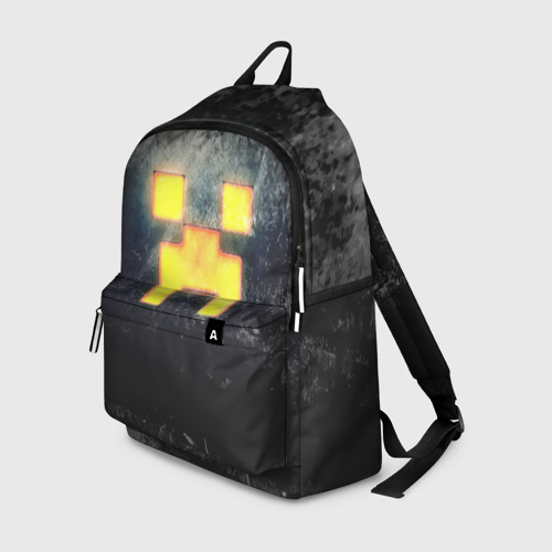 Рюкзак 3D с принтом BLACK Creeper, вид спереди #2