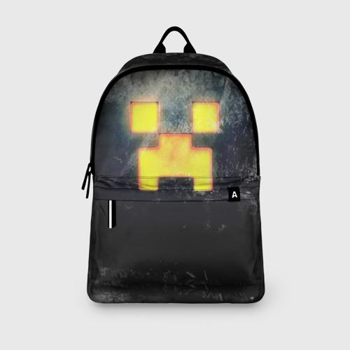 Рюкзак 3D с принтом BLACK Creeper, вид сбоку #3
