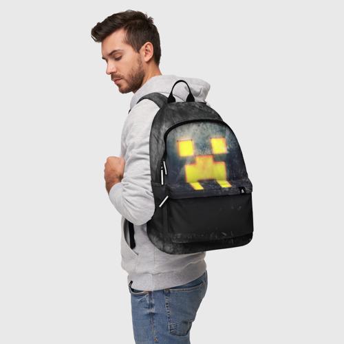 Рюкзак 3D с принтом BLACK Creeper, фото на моделе #1