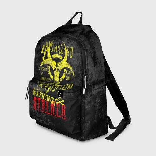Рюкзак 3D с принтом STALKER, вид спереди #2