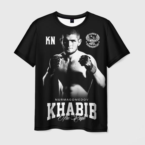 Мужская 3D футболка с принтом Хабиб Нурмагомедов, вид спереди #2