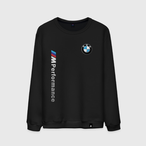 Мужской свитшот с принтом BMW M PERFORMANCE | БМВ, вид спереди #2