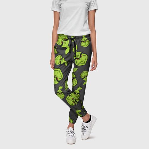 Женские брюки 3D с принтом The Grinch, фото на моделе #1