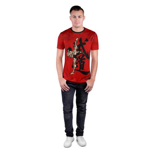 Мужская футболка 3D спортивная с принтом Боец Баки / Baki the Grappler, вид сбоку #3