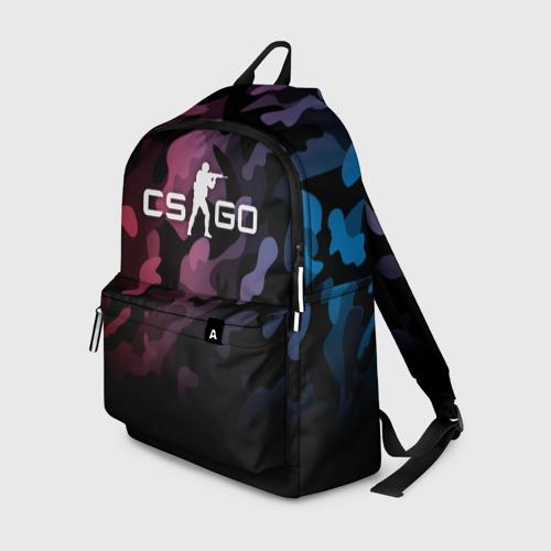 Рюкзак 3D с принтом CS GO, вид спереди #2