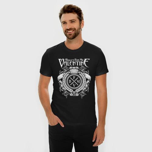Мужская футболка премиум с принтом Bullet For My Valentine, фото на моделе #1