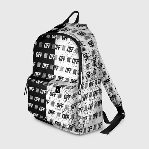 Рюкзак 3D с принтом Выключись и попробуй стиль, вид спереди #2