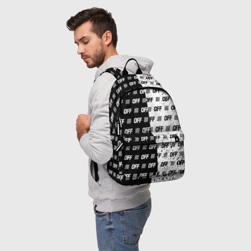 Рюкзак 3D с принтом Выключись и попробуй стиль, фото на моделе #1