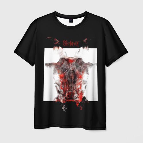 Мужская 3D футболка с принтом Slipknot All Out Life, вид спереди #2