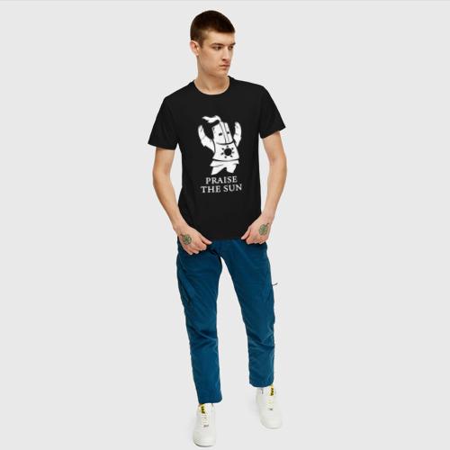 Мужская футболка с принтом DARK SOULS, вид сбоку #3