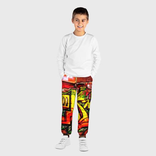 Детские брюки 3D с принтом Граффити, вид сбоку #3