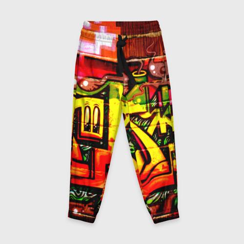 Детские брюки 3D с принтом Граффити, вид спереди #2