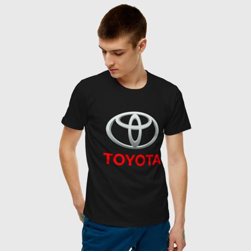 Мужская футболка с принтом TOYOTA, фото на моделе #1