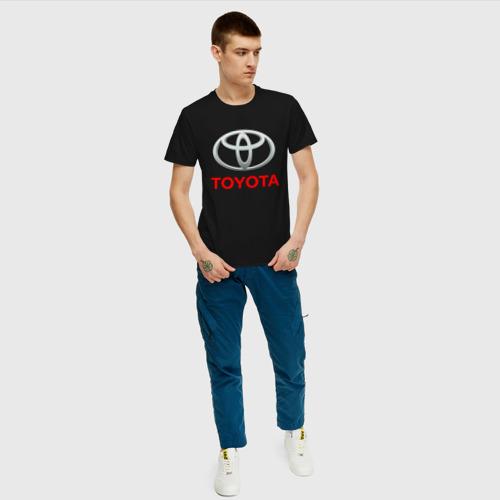Мужская футболка с принтом TOYOTA, вид сбоку #3