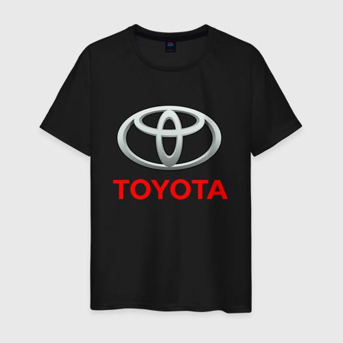 Мужская футболка с принтом TOYOTA, вид спереди #2