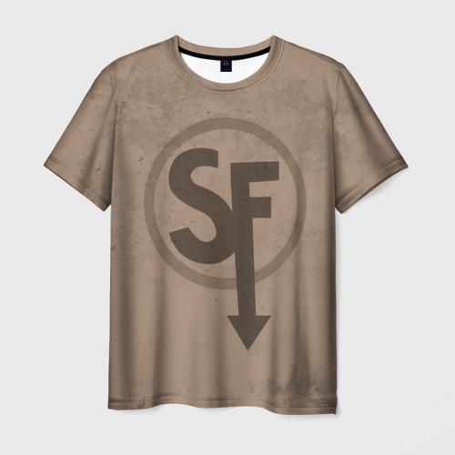 Мужская 3D футболка с принтом SALLY FACE - Ларри, вид спереди #2
