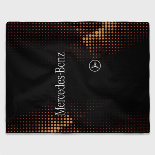 Плед 3D с принтом Mercedes, вид спереди #2