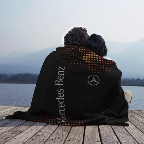 Плед 3D с принтом Mercedes, фото на моделе #1