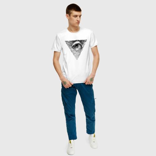 Мужская футболка с принтом Eye, вид сбоку #3