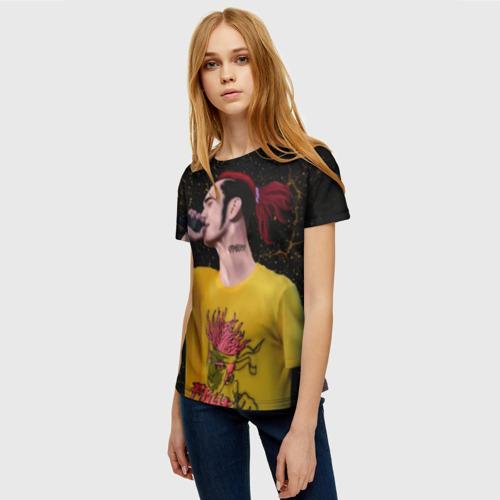 Женская 3D футболка с принтом GoneFludd (art) 3, фото на моделе #1