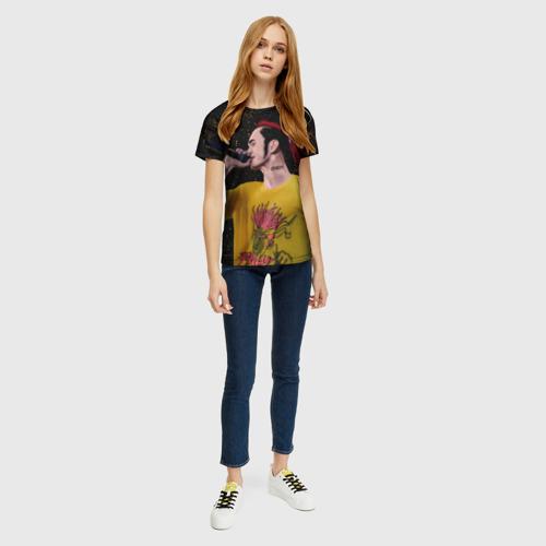 Женская 3D футболка с принтом GoneFludd (art) 3, вид сбоку #3
