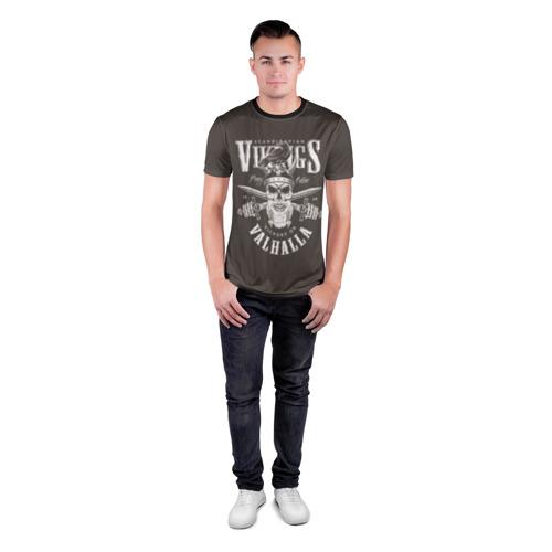 Мужская футболка 3D спортивная с принтом Vikings, вид сбоку #3