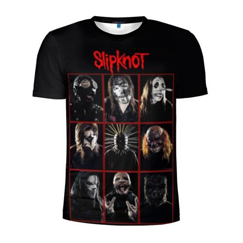 Мужская футболка 3D спортивная Slipknot-Alltogether