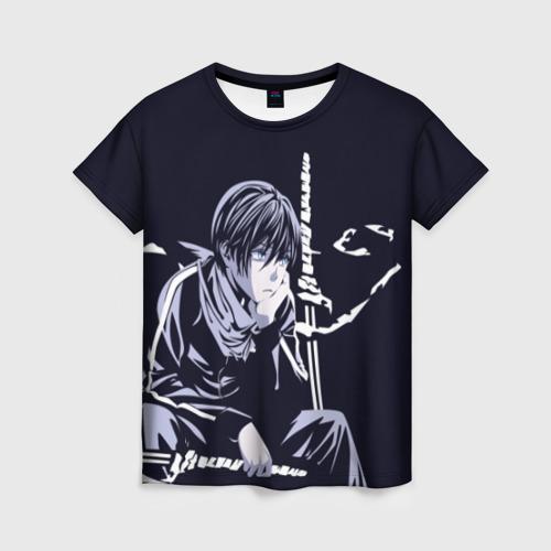 Женская 3D футболка Грустный Ято Бездомный Бог