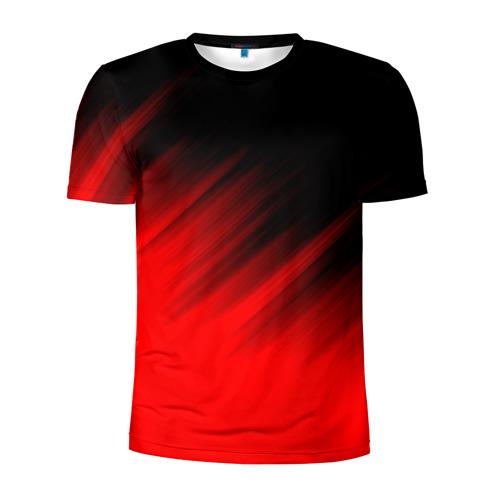 Мужская футболка 3D спортивная ПОЛОСЫ И НИЧЕГО ЛИШНЕГО