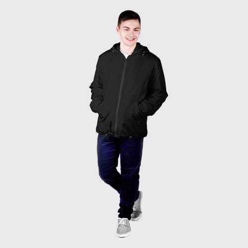 Мужская куртка 3D с принтом Carbon Fiber Big, фото на моделе #1