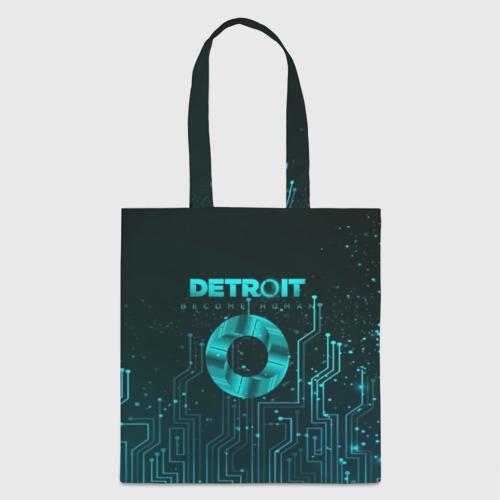 Сумка 3D повседневная с принтом Detroit: Вecome Human, вид спереди #2