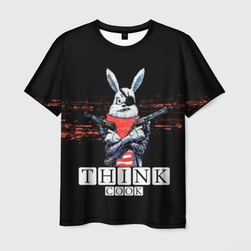 Мужская 3D футболка Кролик с Пистолетами: Измайлов