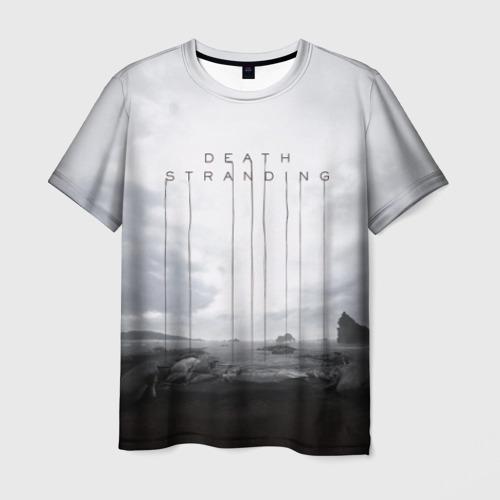 Мужская 3D футболка с принтом DEATH STRANDING, вид спереди #2