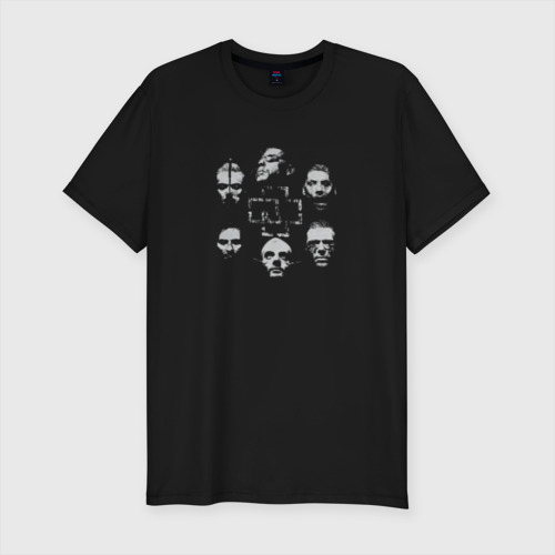 Мужская футболка премиум с принтом Rammstein, вид спереди #2