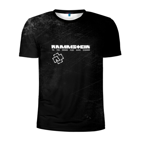 Мужская футболка 3D спортивная с принтом Rammstein, вид спереди #2