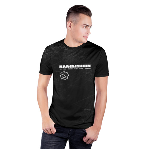 Мужская футболка 3D спортивная с принтом Rammstein, фото на моделе #1