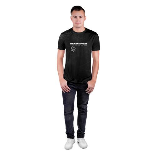 Мужская футболка 3D спортивная с принтом Rammstein, вид сбоку #3