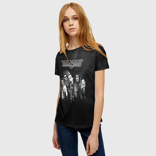 Женская 3D футболка с принтом Rammstein, фото на моделе #1