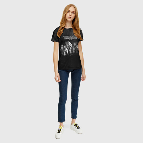 Женская 3D футболка с принтом Rammstein, вид сбоку #3