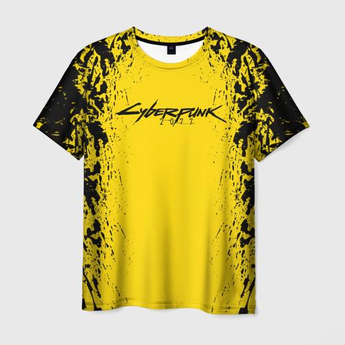 Мужская 3D футболка CYBERPUNK 2077 SAMURAI (НА СПИНЕ)