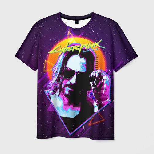 Мужская 3D футболка Киану Ривз Cyberpunk 2077