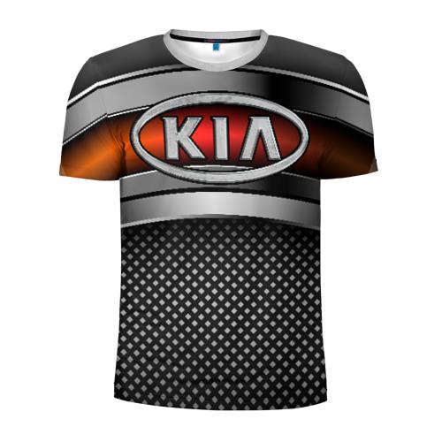 Мужская футболка 3D спортивная KIA Metal