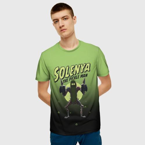 Мужская 3D футболка с принтом Solenya, фото на моделе #1