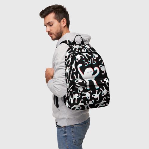 Рюкзак 3D с принтом ЪУЪ СЪУКА ГЛИТЧ, фото на моделе #1