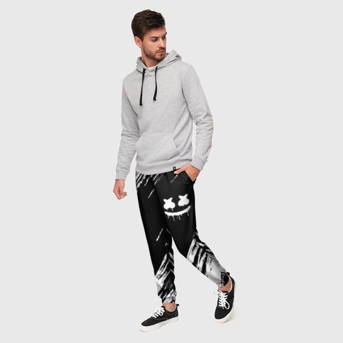 Мужские брюки 3D с принтом MARSHMELLO, фото на моделе #1