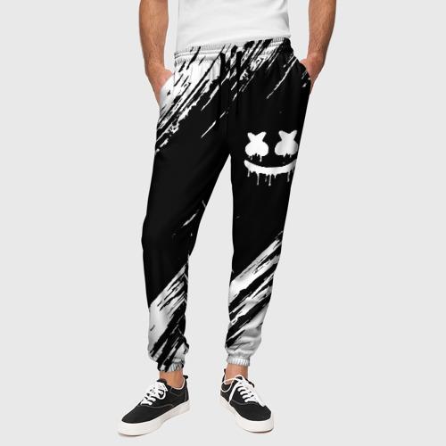 Мужские брюки 3D с принтом MARSHMELLO, вид сбоку #3